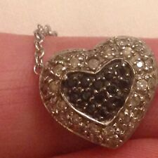 LOVELY SILVER MARCASITE HEART PENDANT AND SILVER CHAIN