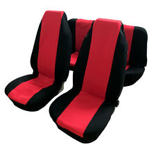 Durable Car Seat Covers Red and Black Complete Full Set For Four Seasons