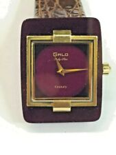GALO RUBY STAR CENTURY VINTAGE VERY RARE AUTOMATIC SWISS SOLID RUBY CASE