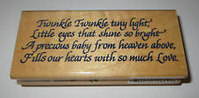 """Twinkle Poem Rubber Stamp Tiny Light Little Eyes Shine Bright Precious Baby 4"""""""