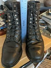 Vintage Black Lacer COWBOY BOOTS Packer Leather WESTERN 10 1/2  Classics
