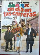 A DAY AT THE RACES MARX BROS movie poster Spanish 1982RR Horse Racing art