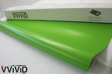 3M x 1.52M Matte Satin Lime Green Vinyl Interior Car Wrap Auto Film MLG7M01