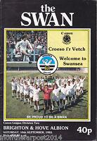 1983/84 SWANSEA CITY V BRIGHTON & HOVE ALBION 10-09-1983 Division 2