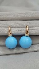 Gunnine 9ct Rose gold filled turquoise blue drop earring hot sale item