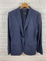 Banana Republic Womens Blazer Jacket Navy Blue Career 1 Button NWOT Size 16T
