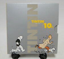 Herge Happy Birthday Tintin 75 Year silver €10 coin 2004 ltd.