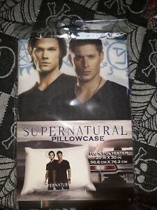 Supernatural Sam & Dean Winchester pillow  case...(NEW/ factory sealed)