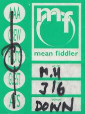 Mean Fiddler Guest/Photo/AAA/Crew/A/s Concert Pass Sticker Ticket Used - Rare
