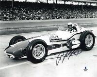 A.J. FOYT SIGNED AUTOGRAPHED 8x10 PHOTO AUTO RACING LEGEND BECKETT BAS