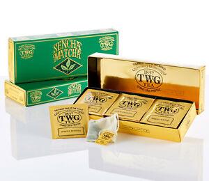 TWG Tea from Singapore - Sencha Matcha (NEW) - 15 Cotton Tea Bag / Sachets