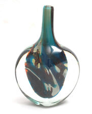 Mdina Glass Cut-Ice Tiger Pattern Lollipop Vase 1970s