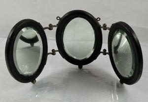 Antique Victorian Tri-Fold Three Panel Dresser Beveled Mirror