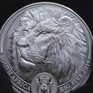 2015 Burundi 1 oz .999 Silver African Lion 5000 Franc BU Coins+capsule Spring9