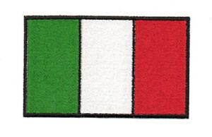 PATCH TOPPA BANDIERA ITALIA cm 10X6 APPLICABILE CON FERRO DA STIRO O CUCITA