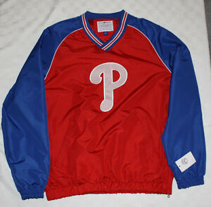 GIII Philadelphia Phillies  Authentic Warm Up Pullover, NWT assrtd sizes, RED