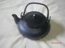 "Ceramic Black ""pebbly"" Tea Pot with infuser"