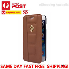 New Official Ferrari 458 Licensed iPhone 6/6s Flip Case/Cover Real Leather Brown