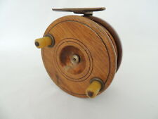 "4"" Wooden Centrepin Fishing Reel."