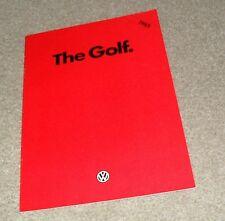 Volkswagen VW Golf Mk2 Brochure 1985 - C CL GL GTI 3 & 5 door