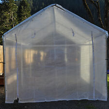 5PC Valance Greenhouse Canopy Enclosure Kit, Clear Fiber- For 10 X 10 Frame