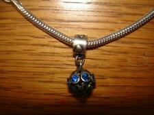 KAY JEWELERS CHARMED MEMORIES BLUE CHANDELIER SWAROVSKI DANGLE STERLING SILVER