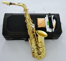 Professional Original Brass surface Alto Saxophone Mark VI sax High F# New Case