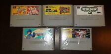 Nintendo SNES JAP Cart Bundle (Parodius Da! Megaman7 Marioworld Mana2 F/fight2)