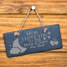 Mum I Love You To The Moon and Back Slate Plaque SL-RC14