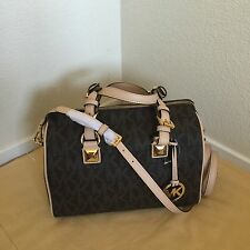NWT MICHAEL KORS  BROWN Grayson Monogram Large Satchel