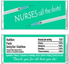 Nurse Hospital Appreciation Candy Wrappers Party Favors Personalized Custom