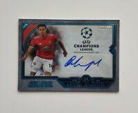 2018 Topps UEFA Museum Jesse Lingard 42/75 Autograph Card
