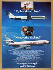 1975 McDonnell Douglas DC-9 & DC-10 Jet Airliners photo vintage print Ad