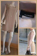 THE KOOPLES Beige Cream Shift Dress UK L size 12