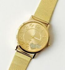 Gold Plated Case Polished Wristwatches with Acrylic Crystal