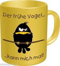 Kaffeebecher, Kaffeetasse, Kaffeepot, Der frühe Vogel, RAHMENLOS® 2600