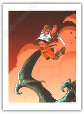 Affiche serigraphie TARQUIN FORBIDDEN WORLDS LANFEUST DE TROY 120ex signé 30x40