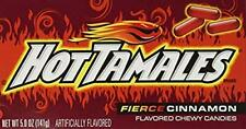 Theater Box Candy (Hot Tamales, 5 oz, 5-pack) Fierce Cinnamon FREE SHIPPING!!