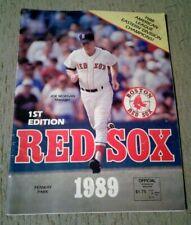 1989 Boston Red Sox vs Mariners 1st Edition Fenway Park Scorebook Magazine