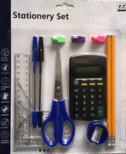 14 Piece Stationery Set Back To School Protractor Pens Ruler HB Pencils Eraser