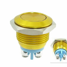 Gold 16mm Anti-Vandal Momentary Stainless Steel Metal NO push button Switch