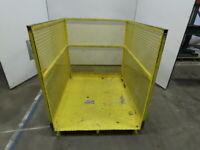 """48"""" x 40"""" 47"""" Tall Forklift Man Lift Aerial Work Platform Basket Cage"""
