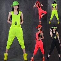 New Hip Hop Dance Costume wear loose jazz harem sports one piece Pants jumpsuit