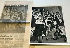 More details for n.s,p.c.c french evening congleton town hall photograph 8x6 + press cutting