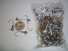 1/16oz #2 ROUND HEAD LEAD HEAD JIG EAGLE CLAW LIL NASTY SICKLE - GOLD 100ct