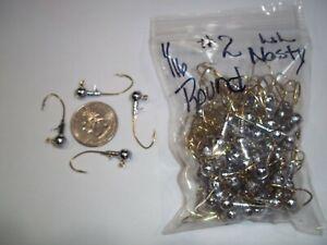 1/16oz #2 ROUND HEAD LEAD HEAD JIG EAGLE CLAW LIL NASTY SICKLE - GOLD 100ct