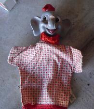 Vintage 1960s Gund Disney Rubber Head Dumbo Elephant Hand Puppet LOOK