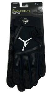 Nike Jordan Baseball Huarache Elite Batting Gloves Men's XL Black/White New