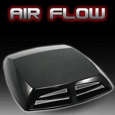 Black ABS Car Decoration Air Flow Intake Scoop Exterior Bonnet Vent Cover Hood