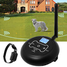 Dog Shock Collar Fence Wireless Electric Containment System Waterproof EU Plug